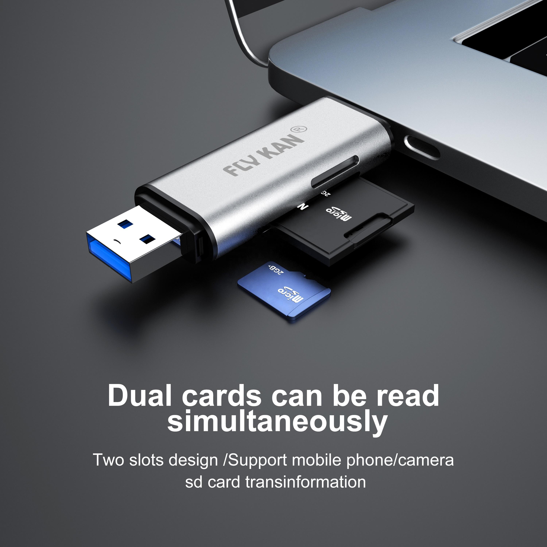 U3CR09-M Dual Data Interface Card Reader / Writer (SD, MicroSD, USB Type-C G1, USB3.0 Interface) - USBSKY   USBSKY.NET