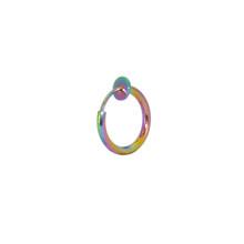 16 г пара хирургических стальных поддельных пружинных колец для носа, кольцо для губ, кольцо для спирали, кольца, поддельные серьги, аксессуа...(China)