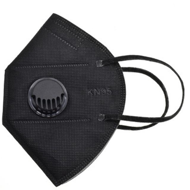 Black cubrebocas kn95 face mask mascara con filtro mascarilla con valvula mundschutz kn95 mask with valve - KingCare   KingCare.net