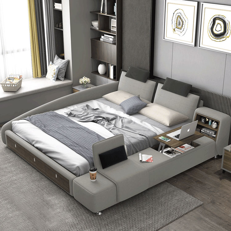customizable multifunction bed furniture storage design fabric tatami lazy bed frame factory wholesale bed tatami