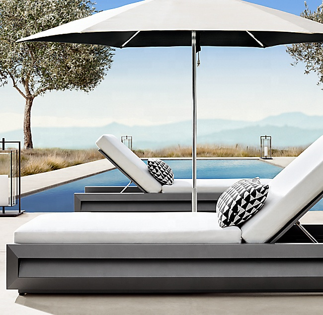 Garden bed sofa sets hotel patio chaise lounge chair sun bed furniture outdoor
