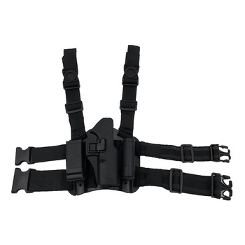 Military Lv3 Glock17 19 Paddle Thigh Hanger Belt Hand Gun Pistol Holster Magazine Torch Pouch Flashlight Right Drop Leg Holster