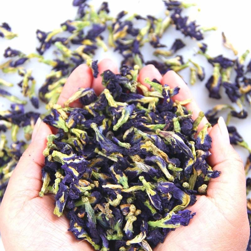 Натуральные органические питьевые красители, синяя бабочка, горох, цветущий чай, синяя маття