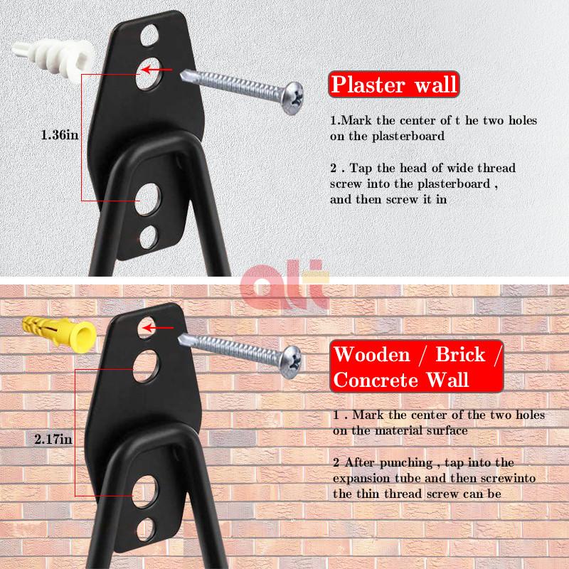 Гаражные крючки для хранения, двойные сверхпрочные Крючки для пегборда, настенные крючки