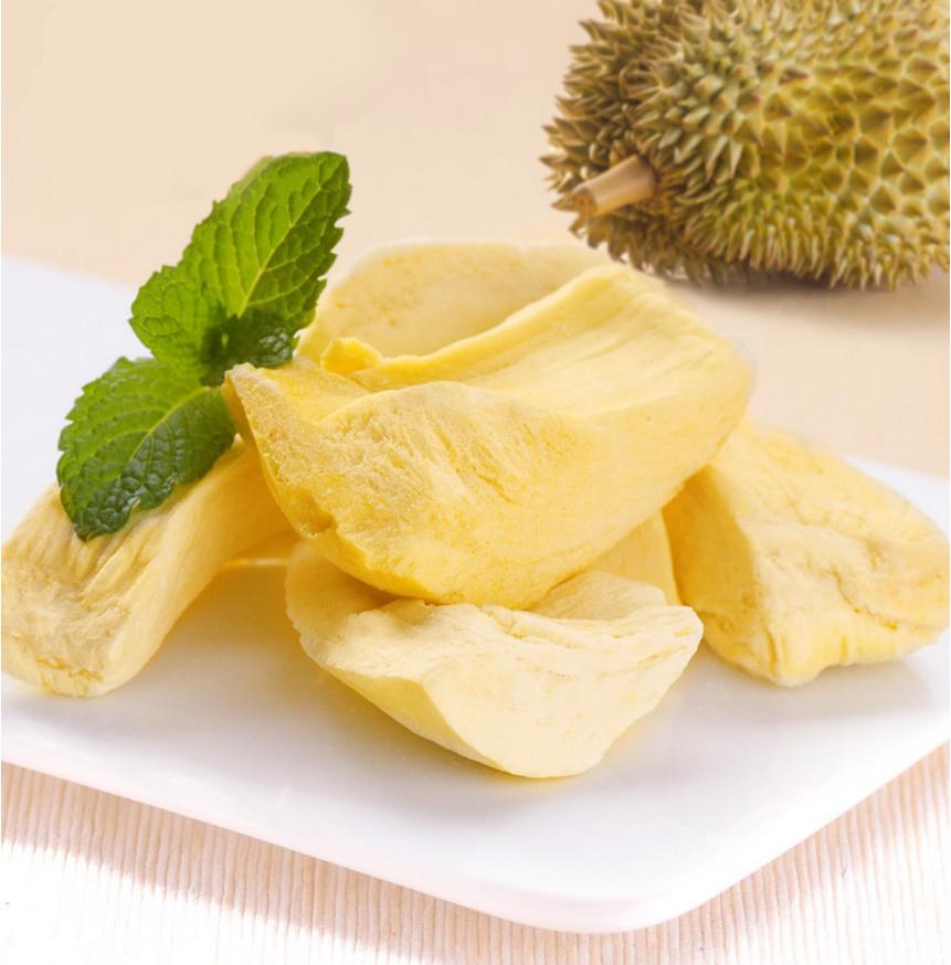 Хит продаж, закуски для фруктов и овощей, дурианские чипсы FD, замороженные дурианские сушеные фрики на продажу