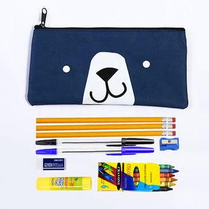 Hot selling Pencil Case Cheap Stationery Kit back to school supplies for kids pre-school stationery set several essentials