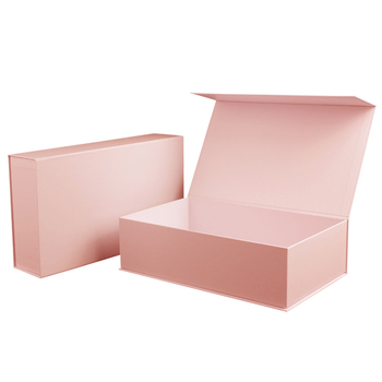 Custom Pink Printing Logo Luxury Eco Friendly Hair Shoe Gift Magnetic Cardboard Paper Gift Box,Shipping Packaging With Ribbon