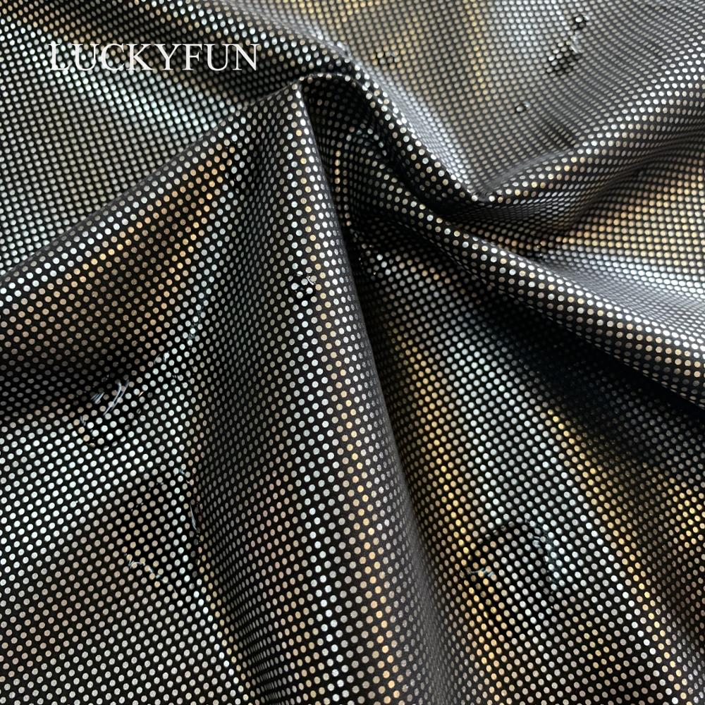 100% POLYESTER GILDING  DOT RHOMBUS  PONGEE  FABRIC FOR  DOWN JACKET