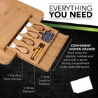 Cheese Natural Crafted Bamboo Wood Bamboo Cheese Board Set For Slicing