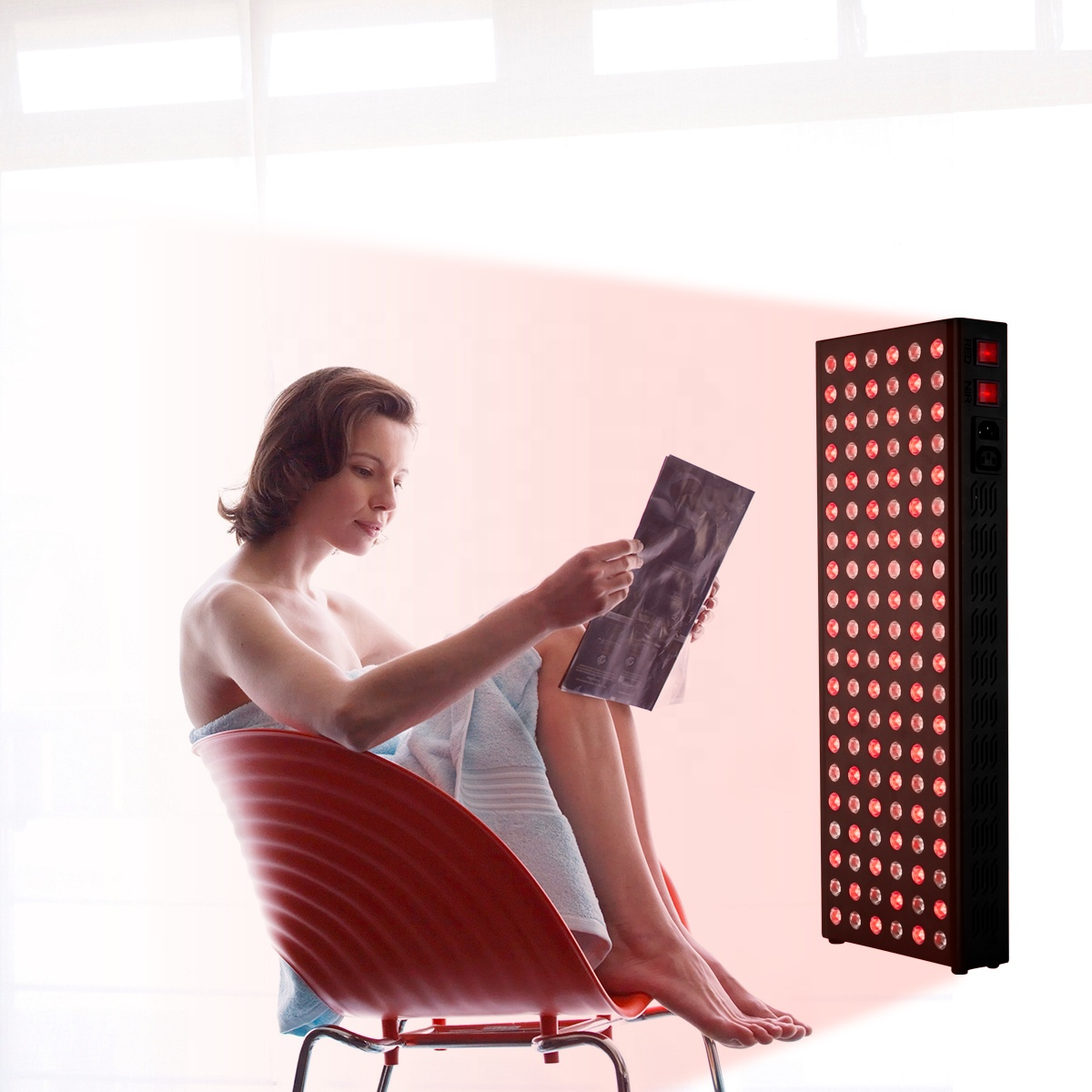 SODOLUX OEM/ODM Factory Wholesale Anti Aging Pain Relief PDT Therapy Machine Infared 600W half Body Red Light Therapy Panel