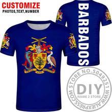 BARBADOS футболка с бесплатной печатью на заказ с номером черного цвета для фото серая Гибкая футболка колледжа для самостоятельной сборки(Китай)