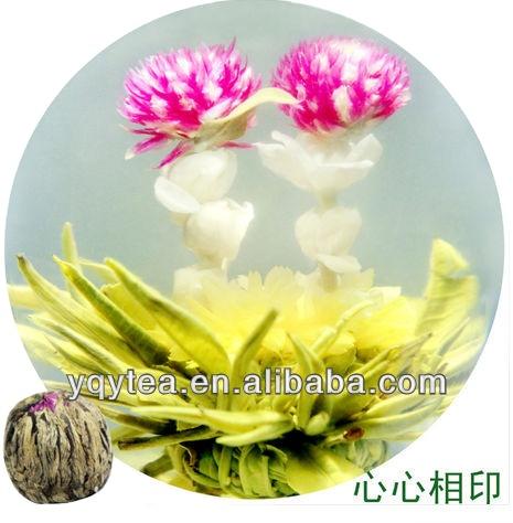 Chinese xinxinxiangyin flower handicraft green tea blooming tea - 4uTea | 4uTea.com