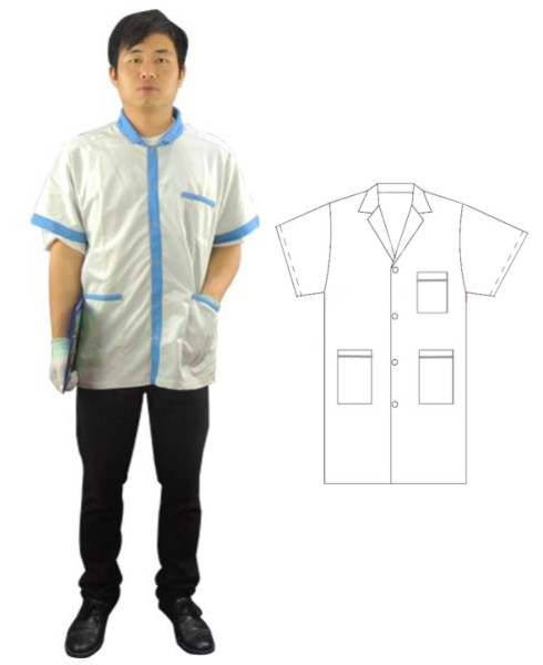 professional manufacturer of ESD Diamond Fabric Short Sleeve Smock Anti-static Diamond Fabric Short Sleeve Smock - KingCare | KingCare.net