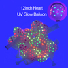 Heart UV Glow Balloons