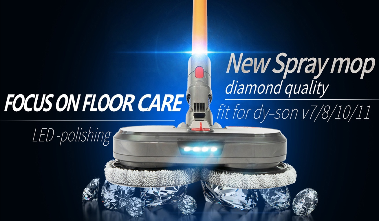 Dysons V7 V8 V10 V11 Vacuum Brush of Electric Vacuum Cleaner Wet Dry Spray Mop Floor Cleaning Brush Head Parts with Water Tank