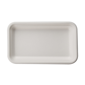 Rectangle Sugarcane Disposable Biodegradable Bagasse Food Tray