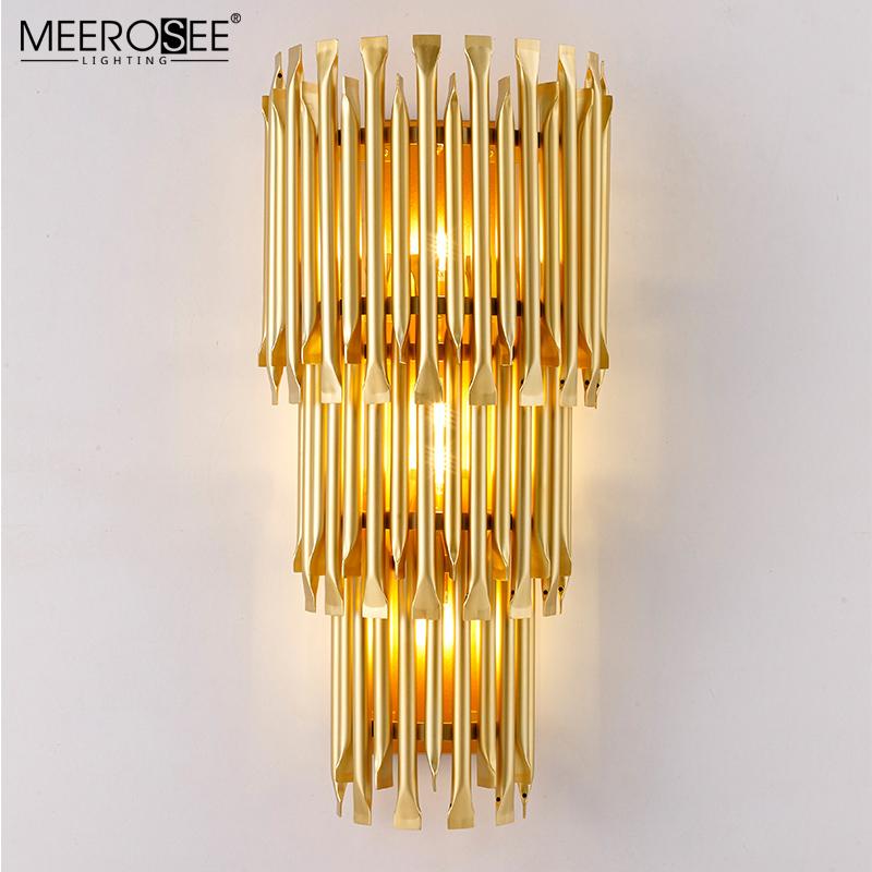 MEEROSEE Post-modern Wall Light Luxury Creative Corridor Hotel Lobby G9 Wall Lighting MD86738