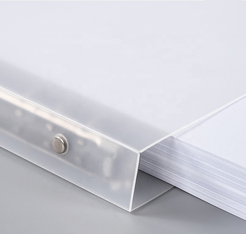 Office Supplies PP Transparent Notebook Cover B5 A5 A6 6 9 20 26 Loose-Leaf Binder