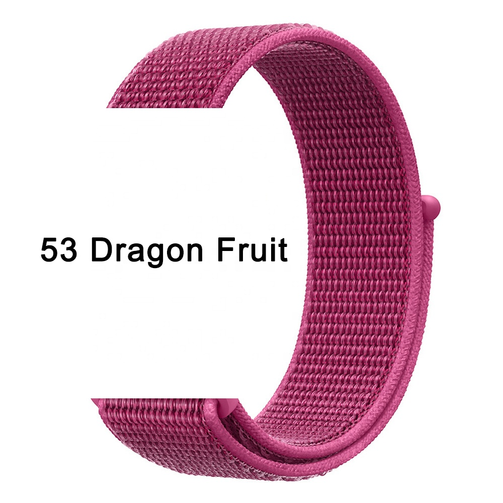 IVANHOE Nylon Sport Loop Band For Apple Watch Breathable Nylon Loop Watch Replacement Strap for iWatch Series 6/SE/5/4/3 40/44mm