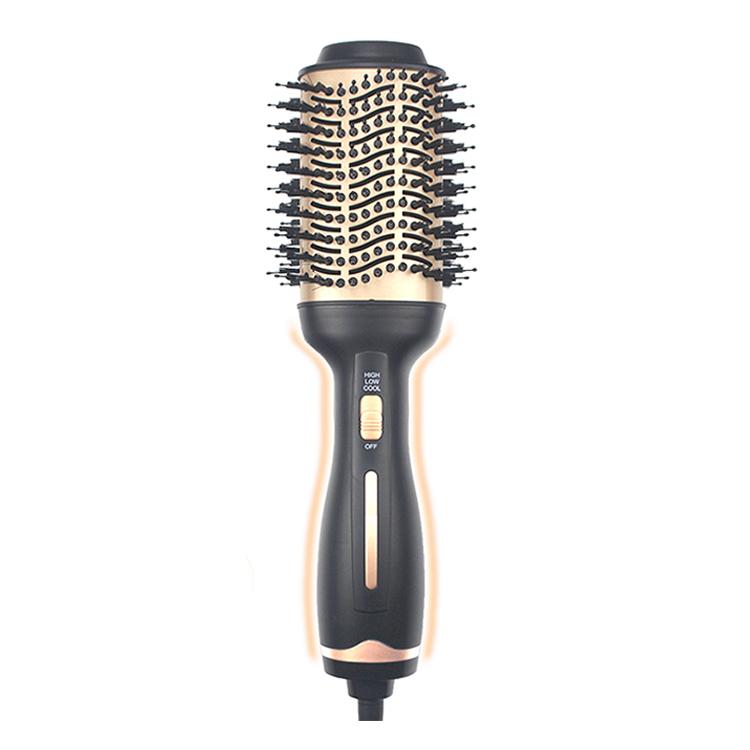 Щетка для волос с частным ярлыком, плоский утюжок с горячим воздухом, электрическая расческа, одношаговый фен, быстрое выпрямление волос, щетка, щетка для горячего воздуха