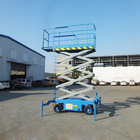 Operation Widely Used Semi-automatic Aerial Hydraulic Scissor Lifting Platform For High Altitude Operation