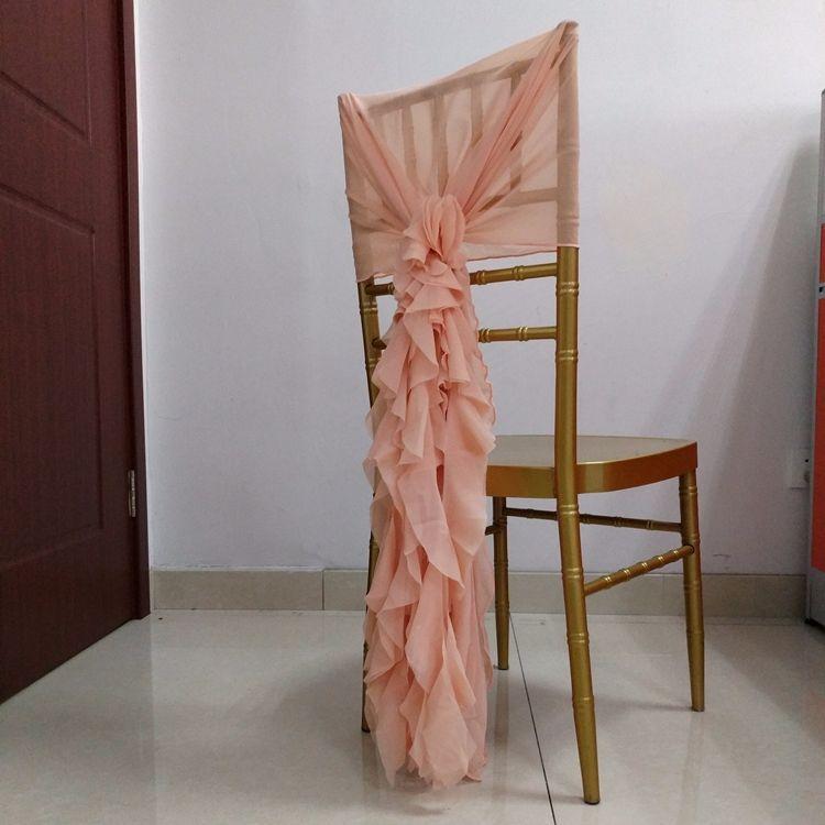 Шифоновая лента на стул на заказ, украшение на спинку стула, накидка на стул для улицы, свадьбы, вечеринки, банкета невесты