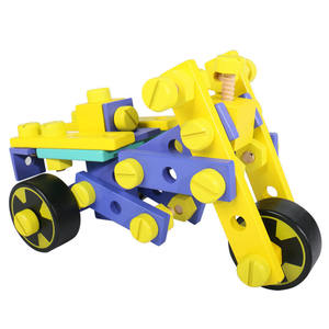 Variable Shape Multifunctional Nut Combination Vehicle Toy Children Wooden DIY Assemble Toy Car