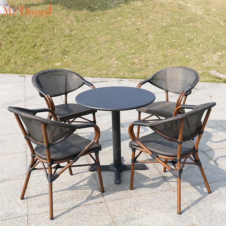 Устойчивый к коррозии Водонепроницаемый Алюминиевый Французский коммерческий уличный стул для ресторана кафе