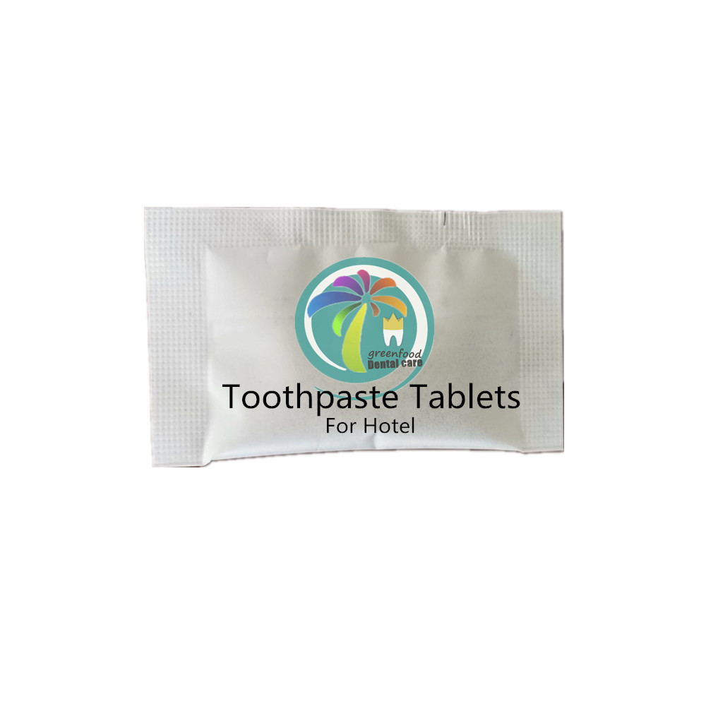 100% натуральная удобная в использовании зубная паста в таблетках для использования в отеле