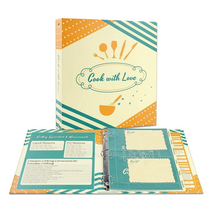 Индивидуальный дизайн Роскошная 3 O-записная книжка с кольцевым механизмом рецепта файл папка PP пластиковые классификации файлов вставка открытка