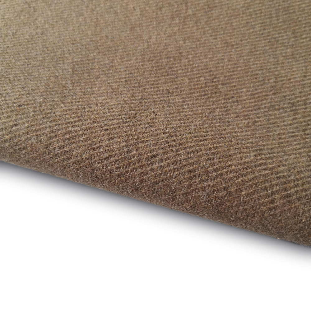 Fashion color woolen twill design melton woven fabric for coat
