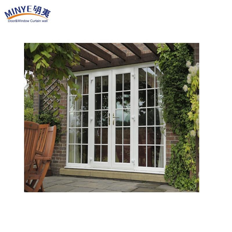 Современный домашний гриль из ПВХ, двойная стеклянная входная дверь для сада