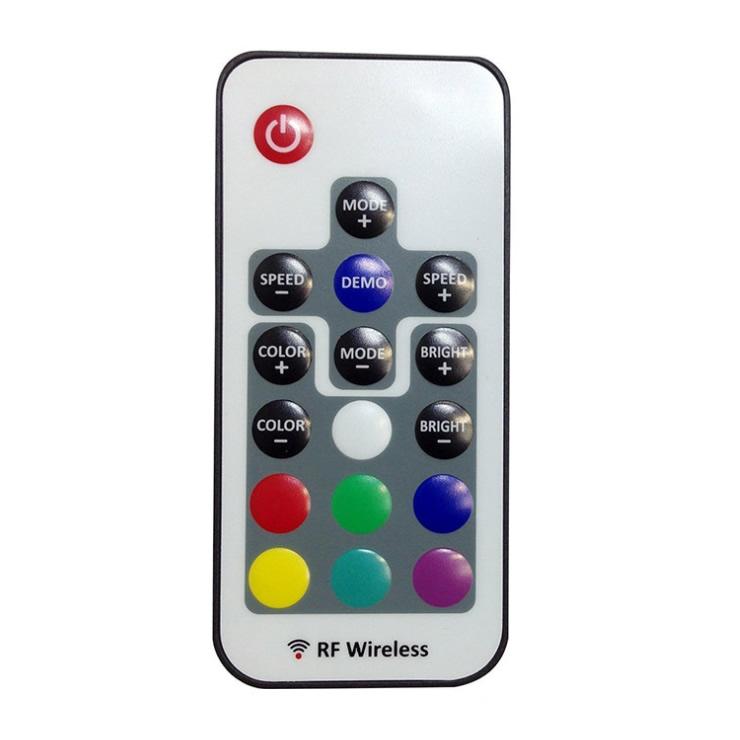 RF Wireless RGB Led Controller DC5-24V 17 Key Remote Control Mini LED Controller