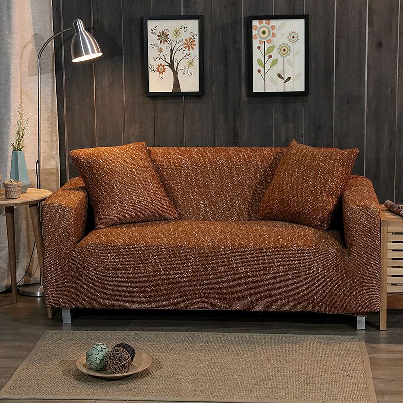 Dark blue anti-fouling stretch sofa cover European simple style elegant sofa cushion sofa cover