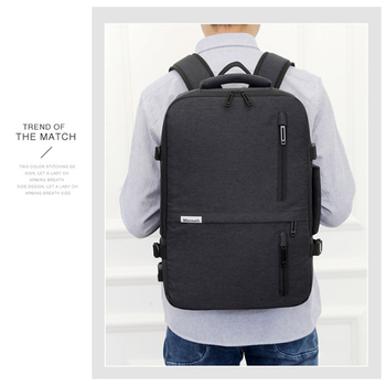 2020 new trend simple convenient laptop back pack high quality waterproof mature business backpack