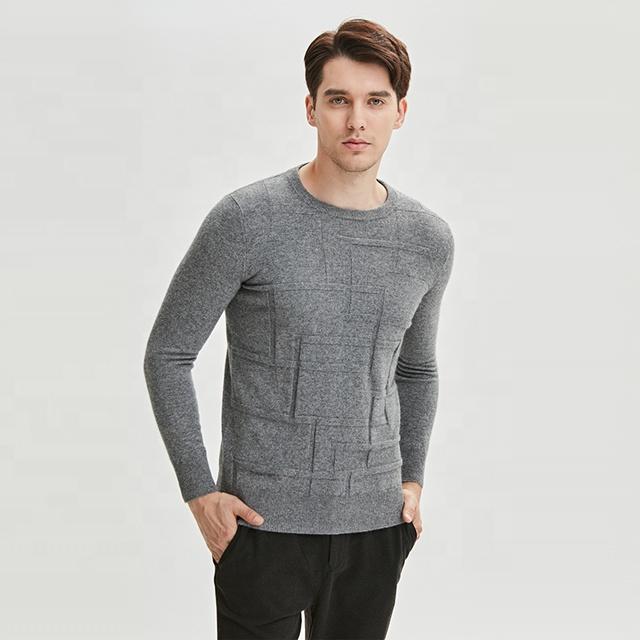 Оптовая продажа, жаккардовый свитер на заказ, мужской вязаный кашемировый шерстяной пуловер с круглым вырезом, трикотажная одежда, распродажа