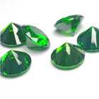 Cubic Zirconia Wholesale Green CZ Loose Round Synthetic Cubic Zirconia Gemstone
