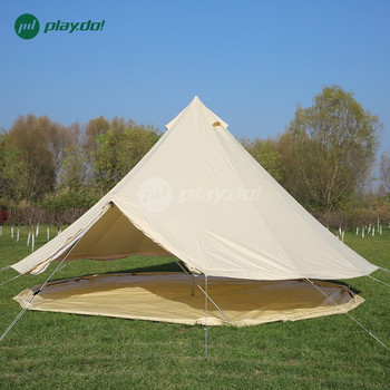 Camping tent luxury all seaon canvas family waterproof 360 mesh wall cotton bell tent