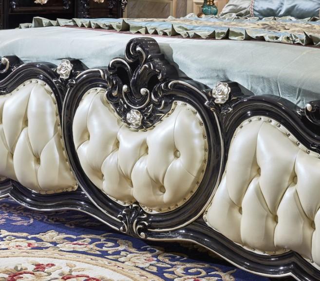 Роскошный античный классический двуспальная кровать с Горячая Распродажа! Модель
