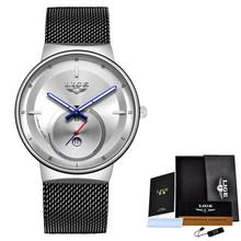 LIGE 2020 новые золотые часы женские креативные стальные женские часы с браслетом женские водонепроницаемые часы Relogio Feminino(China)