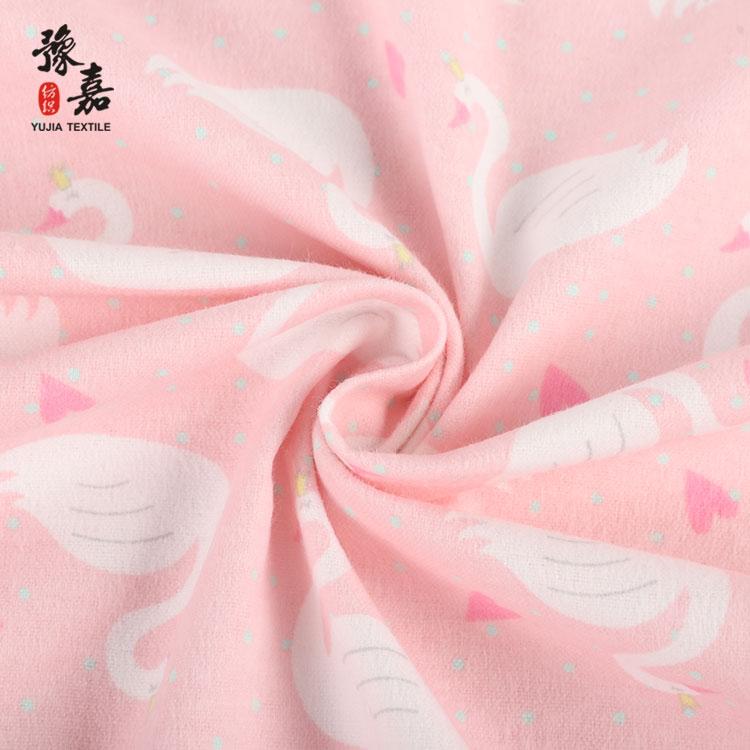 Новинка, фланелевая ткань с принтом лебедя, 100% хлопок, фланелевая ткань с принтом