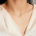 Gold Solid Gold Necklace For Women Mercery 14 K Necklaces True Gold Colar Jewelry Kolye For Women Fashion Collier Mama Star 14K Solid Gold Diamond Necklaces