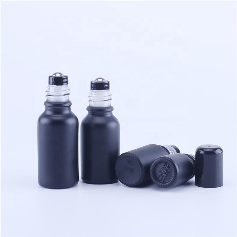 10 мл 15 мл 20 мл 30 мл 50 мл 100 мл матовый черный стеклянный рулон на бутылках роликовый шар из нержавеющей стали для духов эфирное масло