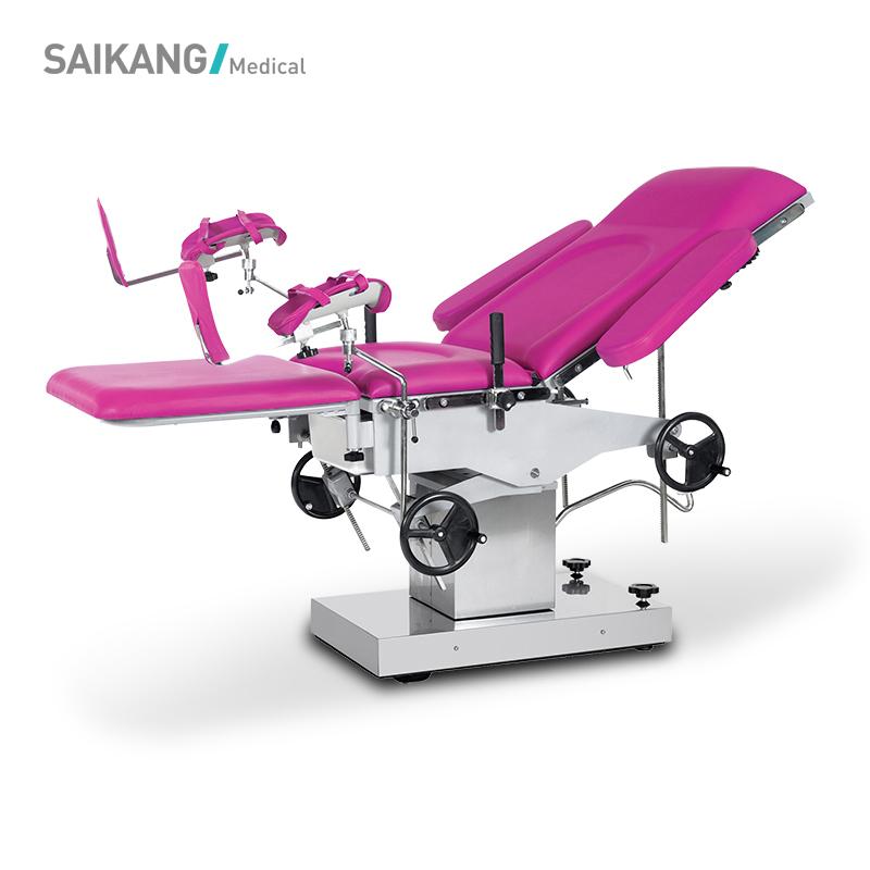 A105 многофункциональная Регулируемая ручная Акушерская кровать из нержавеющей стали, гинекологический операционный стол, производители
