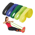 Stretch 2M Fabric Pull Up Resistance Bands Long Stretch Power Bands OEM Customized Color Logo Package Loop Bands 5 Packs