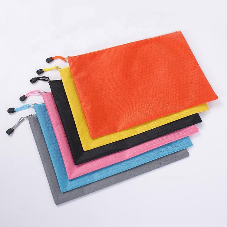 Холщовые сумки для файлов на молнии разных цветов, размер A4, водонепроницаемая папка для документов, сумка-Органайзер, косметичка для девочек