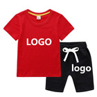 Boy Clothes Baby Custom Logo Boy Clothes Set High Quality Summer Short Sleeves T-Shirt Shorts Kids Clothing Sets Baby Boys' Clothing Sets