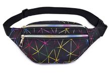 Женская голографическая поясная сумка Buylor, серебристая, розовая, модная, Геометрическая, с принтом банана, для телефона(Китай)