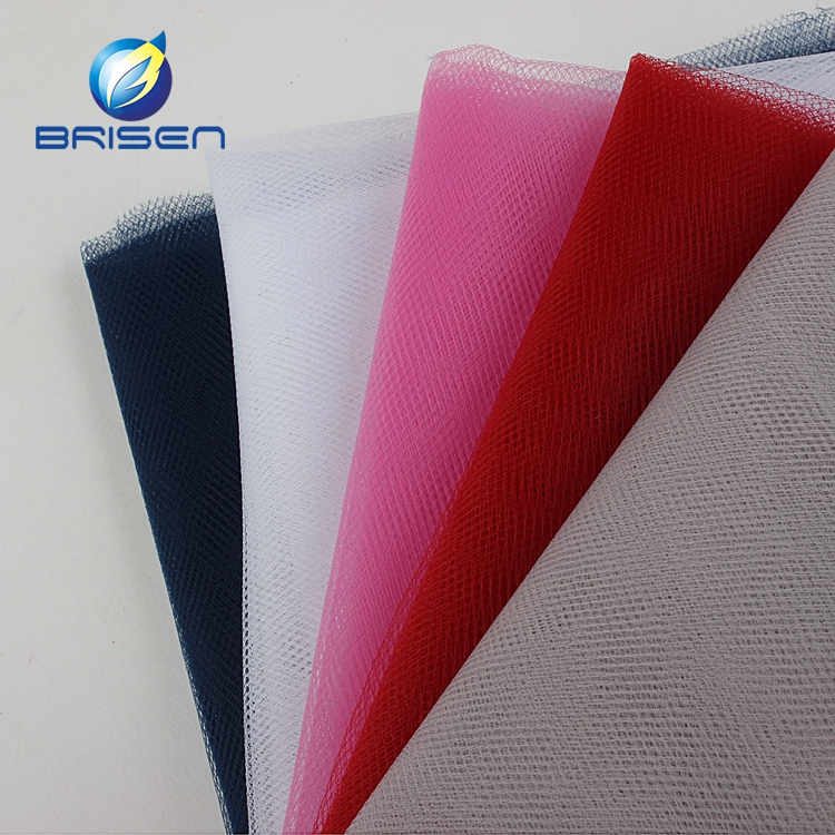 factory Colorful different 20D Polyester White Tulle Fabrics