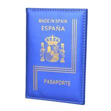 Защитный чехол для паспорта Espanol, кожаный чехол для паспорта(Китай)